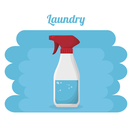 splash bottle laundry service vector illustration design Illustration