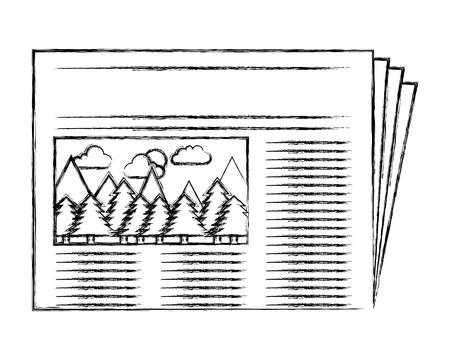 Journal quotidien icône isolé illustration vectorielle conception