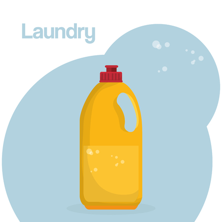 detergent botttle laundry service vector illustration design