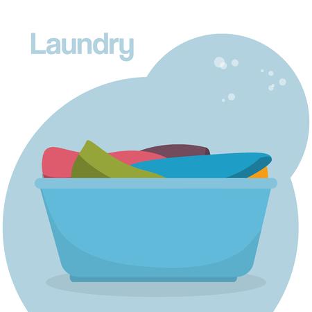 plastic pot laundry service vector illustration design