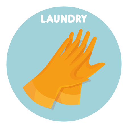 rubber gloves laundry service vector illustration design Illustration