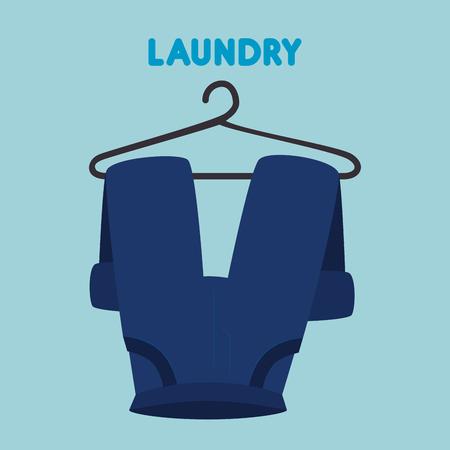 pants hanging laundry service vector illustration design