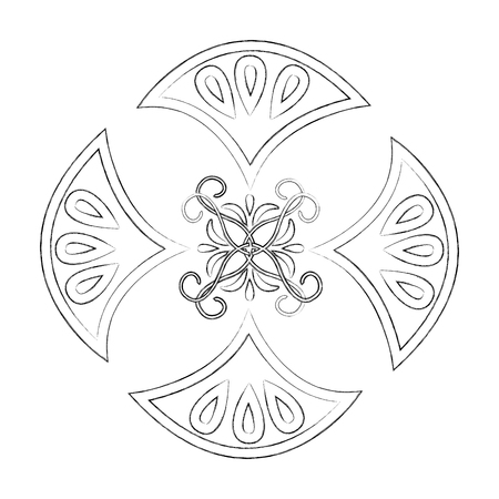 cover frame victorian style vector illustration design Illustration