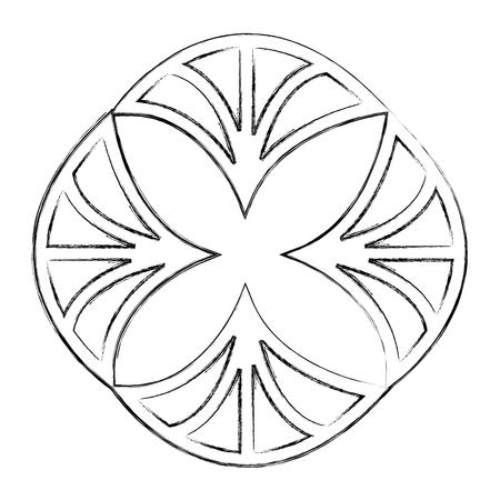 cover frame victorian style with floral shape vector illustration design Ilustração