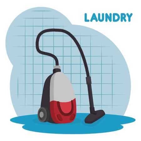 Vacuum cleaner laundry service vector illustration design