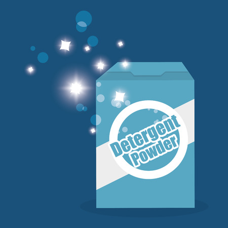 detergent powder box laundry service vector illustration design