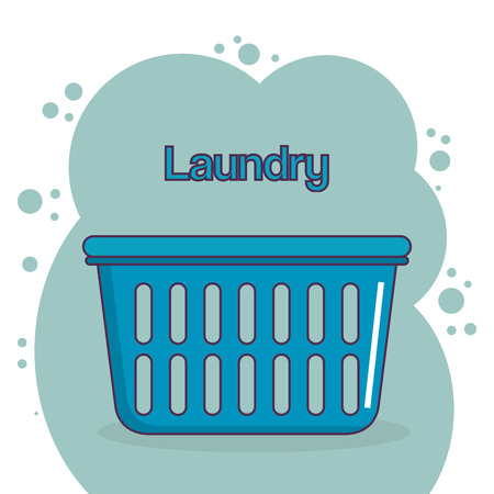 clothes plastic basket laundry service vector illustration design Illustration