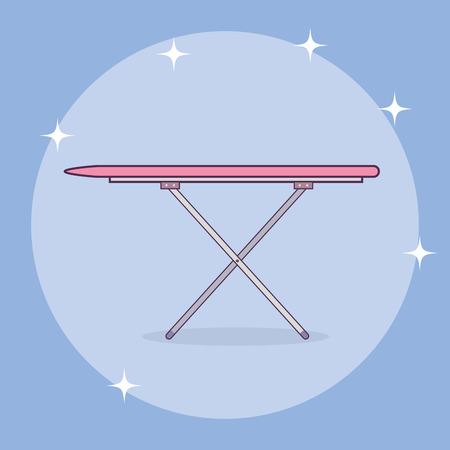 ironing board laundry service vector illustration design  イラスト・ベクター素材