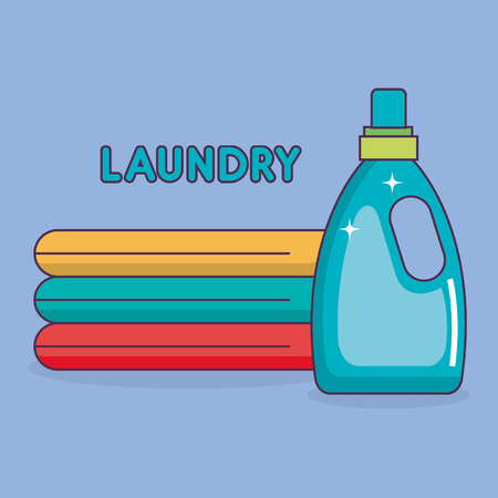 detergent botttle laundry service vector illustration design
