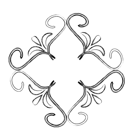 cover frame victorian style with floral shape vector illustration design Stock Illustratie