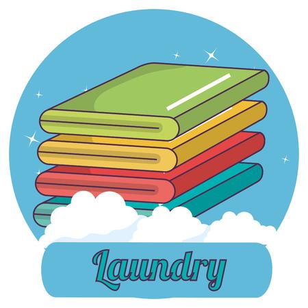 folded clothes laundry service vector illustration design Illustration