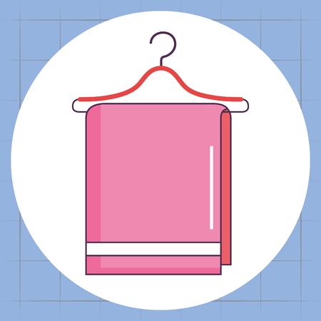 towel hanging laundry service vector illustration design Illustration