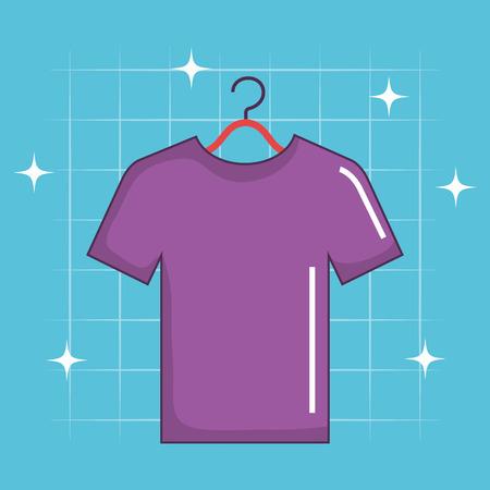 shirt hanging laundry service vector illustration design