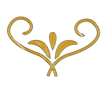 装飾的な渦巻き贅沢黄金の繁栄ベクトルのイラスト