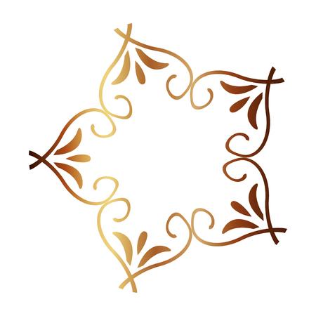beauty scroll antique ornament style vector illustration neon design Illustration