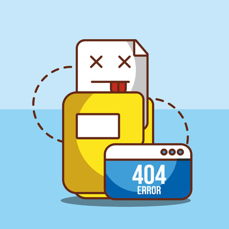 folder file web site 404 error page not found vector illustration  イラスト・ベクター素材