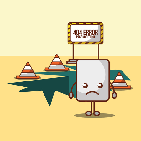 paper 404 error page not found vector illustration