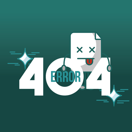 404 error page not found notification trouble vector illustration 向量圖像