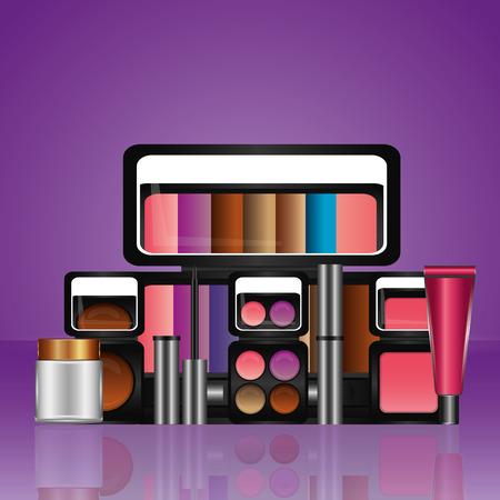 set of professional cosmetics makeup tools vector illustration 写真素材 - 101455203