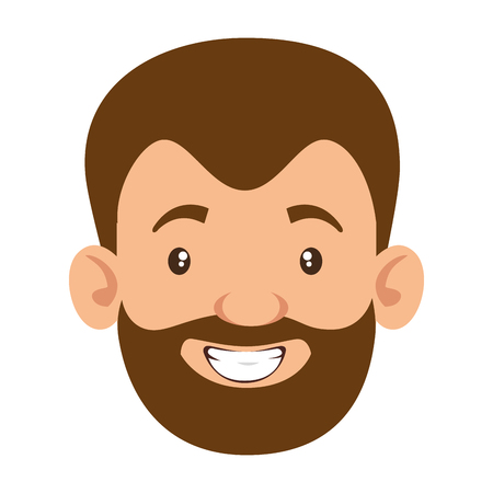 cute father with beard avatar character vector illustration design