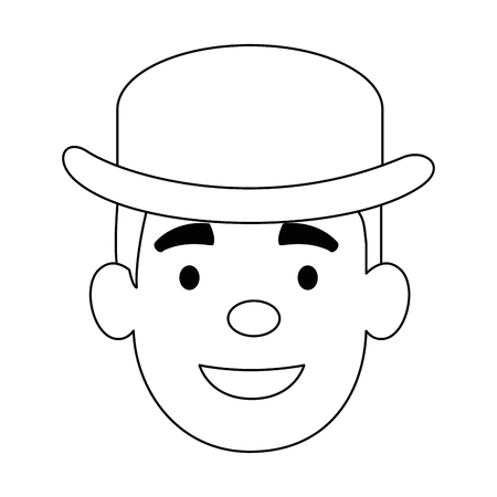 cute father with hat avatar character vector illustration design