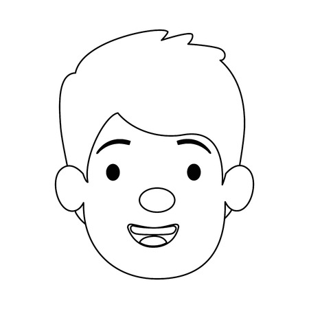 little boy son head character vector illustration design Illustration