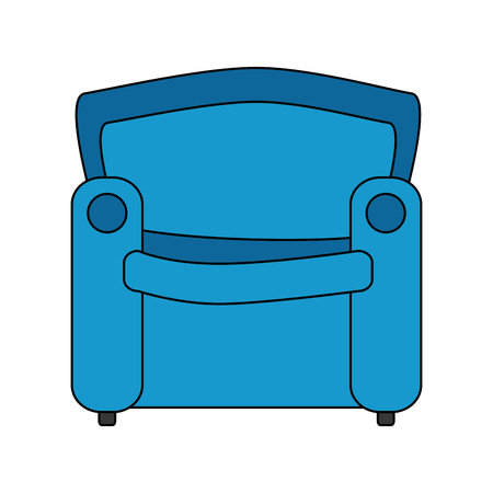 livingroom sofa isolated icon vector illustration design