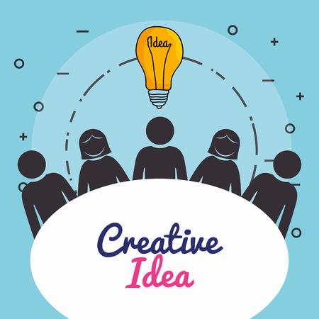 bulb creative ideas concept vector illustration design Stok Fotoğraf - 101466566
