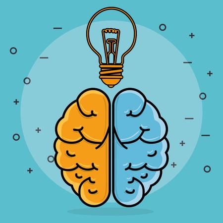 bulb and brain creative ideas vector illustration design