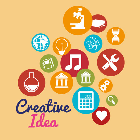 creative ideas set icons vector illustration design Illustration