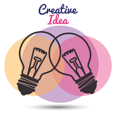 bulbs set creative ideas concept vector illustration design