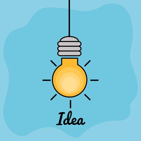 bulb creative ideas concept vector illustration design