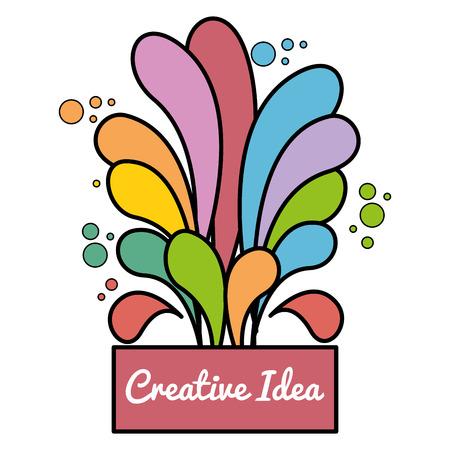 splash flow creative ideas vector illustration design Çizim