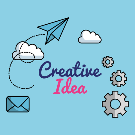 creative ideas set icons vector illustration design Çizim