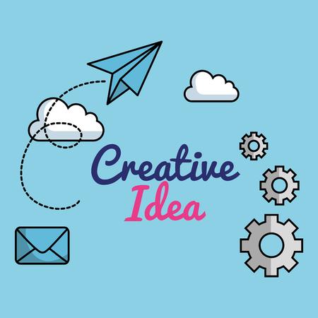 creative ideas set icons vector illustration design Illustration