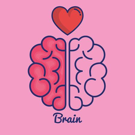 creative brain idea concept vector illustration design Çizim