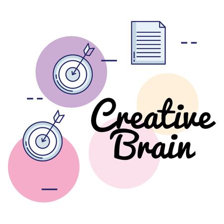 creative brain set icons vector illustration design