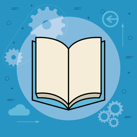 book school isolated icon vector illustration design