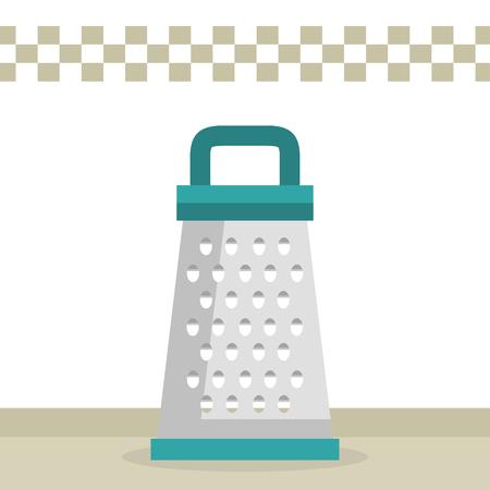kitchen grater utensil icon vector illustration design