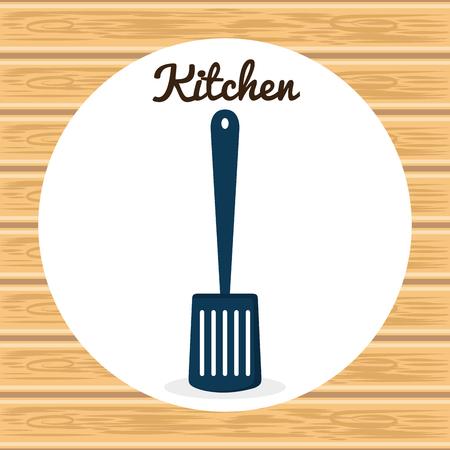 kitchen spatule utensil icon vector illustration design