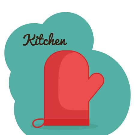 kitchen glove utensil icon vector illustration design