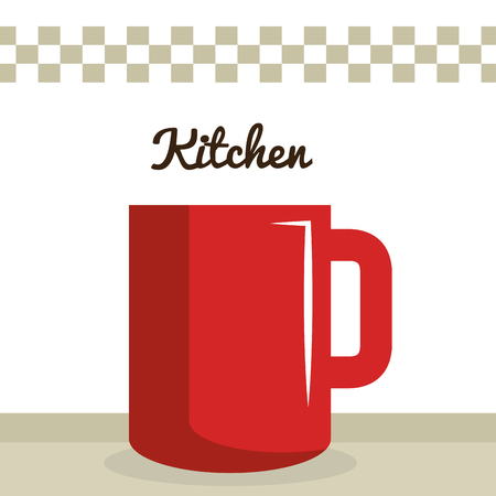 kitchen coffee cup utensil icon vector illustration design