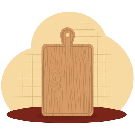 kitchen cut board utensil icon vector illustration design
