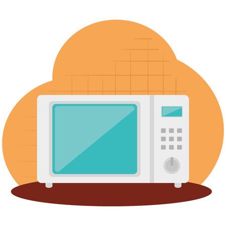 keuken oven magnetron gebruiksvoorwerp pictogram vector illustratie ontwerp Vector Illustratie