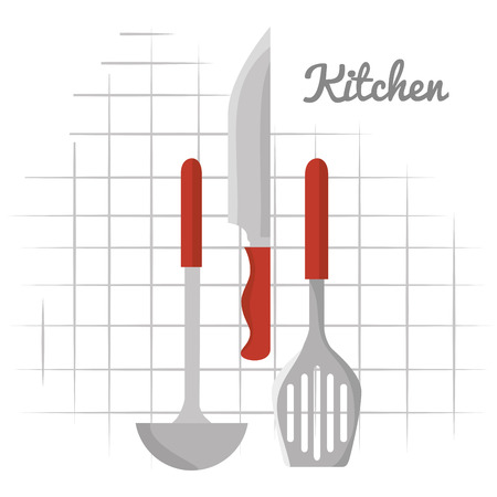kitchen cutlery hanging icons vector illustration design