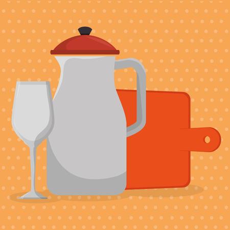 kitchen utensils equipment icons vector illustration design