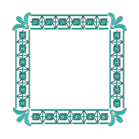 square victorian frame isolated icon vector illustration design 向量圖像