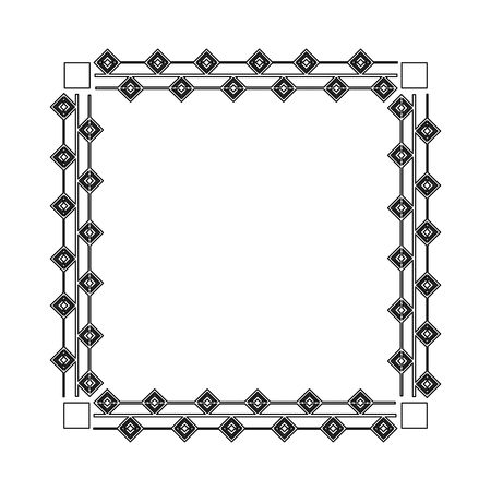 square victorian frame isolated icon vector illustration design Standard-Bild - 101511030