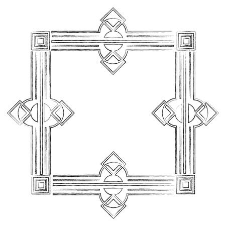 square victorian frame isolated icon vector illustration design Standard-Bild - 101511039