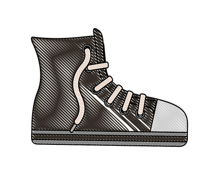 young shoe tennis in boot style vector illustration design